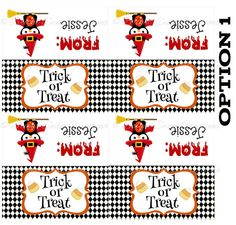 Personalized Halloween Treat Bag Topper -DIY Printable - Print all you need! C1