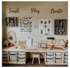 Playroom Design, Playroom Decor, Kids Room Design, Baby Room Decor, Childrens Bedroom Storage, Bedroom Storage Ideas For Clothes, Kids Bedroom, Trofast Ikea, Ideas Habitaciones