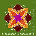 Hrudaya Kamala Kolam 3 Rangoli Designs Diwali, Rangoli Designs With Dots, Rangoli Designs Images, Kolam Rangoli, Rangoli With Dots, Beautiful Rangoli Designs, Simple Rangoli, Cat Videos For Kids, Traditional Rangoli