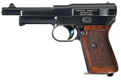 Excellent and Rare Documented Mauser Model 1914 Long Barrel Humpback Semi-Automatic Pistol Photographed in Mauser Pocket Pistols