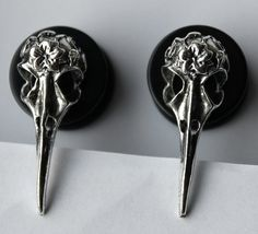 Bird Skull Plugs by FearlessPlugs on Etsy, $17.00 Strange .. Dark and ❤️