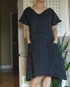 running with lines pure linen slip dress custom order fit up 3x more