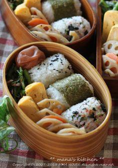 め以子風おむすび弁当(関西編)♪ : ** mana's Kitchen **