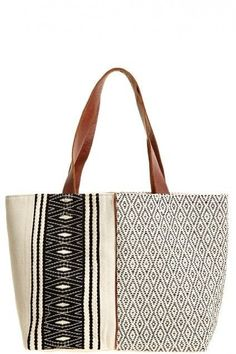 The perfect black and white tote