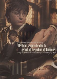 Couldn't get the picture of Hermione out of his head Harmony Harry Potter, Always Harry Potter, Theme Harry Potter, Harry Potter Quotes, Harry Potter Universal, Harry Potter Fandom, Harry Potter World, Hp Quotes, Harry Potter Hermione Granger