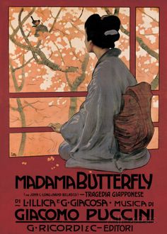 Madam Butterfly (G. Puccini) - Vintage Style Opera Poster Pósters en AllPosters.es