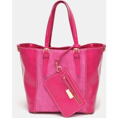 Marlafiji Justine Pink Italian Leather Tote ($145) ❤ liked on Polyvore featuring bags, handbags, tote bags, pink handbags, pink tote bag, pink leather purse, tote purse and genuine leather handbags