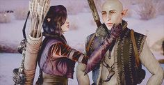 Solas and Lavellan. I live for these alternate views.