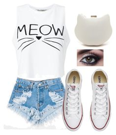 """""""kat"""" by madystultz on Polyvore featuring Levi's, Miss Selfridge and Converse"""