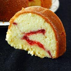 Orange Strawberry Swirl Cream Cheese Bundt Cake @Anuradha   Baker Street