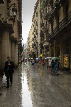 Photograph Street under the rain with impressionist filter by Jaume Taulats on 500px
