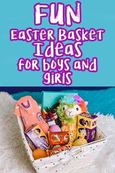 AD Easter Basket Ideas for Boys AND Girls! -Something to wear -Something to cuddle -Something to eat (yummy treats!) -Something to create -Something to watch We plan to add some fun experiences in also! Come see how we partnered with @cadbury and @REESES to make fun Easter baskets! Everything is from @Walmart! #BeSoEGGstra #Walmart #SheSpeaks #Easter #EasterBasket #Eastercandy #chocolate