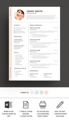 Resume Template Word Modern Clean Cv pertaining to How To Create A Cv Template In Word Resume Words, Resume Writing, Cover Letter Template, Letter Templates, Cv Web, Administrative Assistant Resume, Free Resume Examples, How To Make Resume, How To Make Cv