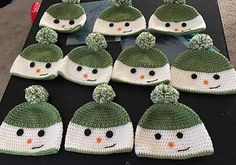 [Free Pattern] Unbelievably Cute Happy Snowman Hat You Can Crochet For A Child