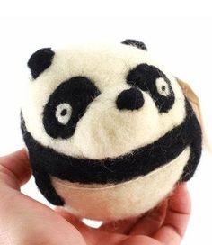 DIY felt panda kit! Heart = melted.