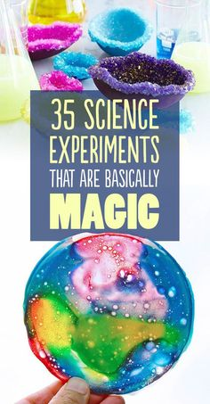 35 Magical Science Experiments. Make crystal words, fireworks in a jar... tons of ideas!