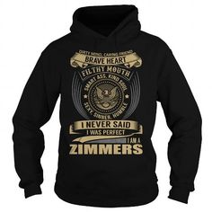 I Love ZIMMERS Last Name, Surname T-Shirt T-Shirts