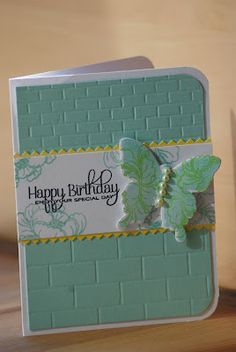 Beautiful Butterfly Card...love the color & tile look embossing.
