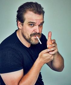 David Harbour is pure manliness. #handsome #hot #sexy #celebrity #hunk