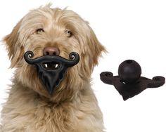 Puppy 'stache Dog Toy