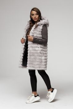 This Long Faux Fur Vest is stunning.  Only Best Quality Products  See more Pins Soon to buy on Ebay Fake Fur, Faux Fur Vests, Fur Coat, Winter Jackets, Stuff To Buy, Ebay, Collection, Products, Fashion