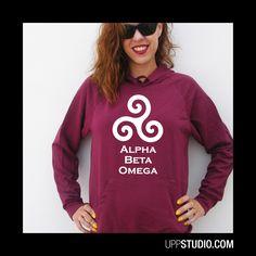 Sudadera Alpha Beta Omega #TeenWolf #Hoodie #Sweatshirt #Felpa #TV #MTV #Sweat #Diseño #Design con envío #gratis sólo en www.UppStudio.com
