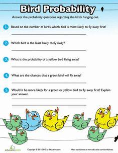 Probability Practice: Birds | Worksheet | Education.com