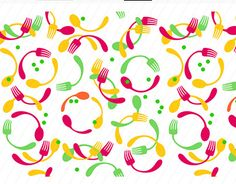 """Check out new work on my @Behance portfolio: """"Seamless pattern with forks and spoons"""" http://be.net/gallery/43343429/Seamless-pattern-with-forks-and-spoons"""