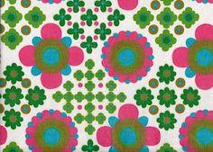 geometric floral : 1970s Tea Towels - Pomme de Jour