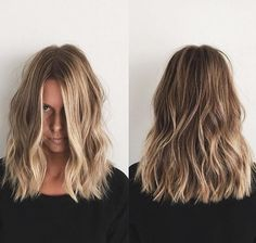 Makeup 87 gorgeous balayage hair color ideas best balayage highlights page 30 Balayage Hair Blonde, Balayage Highlights, Balayage Long Bob, Medium Balayage Hair, Medium Length Hair Blonde, Lob Ombre, One Length Hair, Balayage Lob, Bayalage