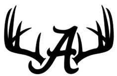 Deer Hunting Antler Skull Car Window Decal Alabama Crimson Tide or in Car Window Decals, Car Decals, Vinyl Decals, Sports Decals, Sports Art, Vinyl Crafts, Vinyl Projects, Circuit Projects, Welding Projects