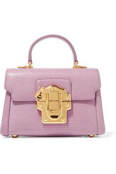Dolce & Gabbana   Lucia mini lizard-effect leather shoulder bag   NET-A-PORTER.COM