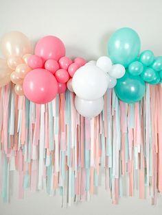 Decoration Birthday, Birthday Balloon Decorations, Birthday Balloons, Birthday Party Themes, Diy Birthday Backdrop, Party Ballons, Themed Parties, Party Kulissen, Baby Party