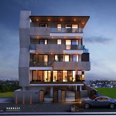 Architecture Discover A house of modern design Architecture Building Design, Home Building Design, Facade Design, Origami Architecture, 3 Storey House Design, Bungalow House Design, Modern Exterior House Designs, Exterior Design, Modern Design