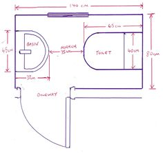 Minimum size for a downstairs toilet with bathroom for Bathroom design and installation leeds