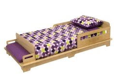 Transitioning from crib to a big kid bed is easy with this Modern Toddler Bed from Polka Dots.The bed uses the mattress from your child's crib and sits low to Boy And Girl Shared Bedroom, Big Girl Rooms, Kids Bedroom, Kid Rooms, Bedroom Ideas, Toddler Cot, Room Accessories, Kid Beds, Kids Furniture