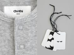 Chi Khi is an exciting new kidswear label by Natalie Bassingthwaighte. Tag Design, Label Design, Packaging Design, Branding Design, Natalie Bassingthwaighte, Graphic Design Studios, Modern Kids, Neutral Palette, Kids Branding