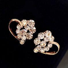 Rhinestone Balls Heart Earrings | LilyFair Jewelry, $16.99!