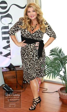 """Real Curve Cutie Sherry (5'7"""" and a size 0x) from GoCurvy TV looks fierce in our…"""