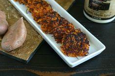 Candied Sweet Potato Latkes #Thanksgivukkah