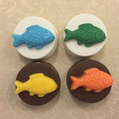 FISH Chocolate Covered Oreos Fishing Boys by DeliciousCandyCo Birthday Party Favors, Boy Birthday, Order Cupcakes, Nautical Party, Chocolate Covered Oreos, Oreo Cookies, Cupcake Toppers, Chocolates, Fish Theme