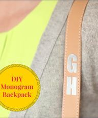 Video DIY: How cute is this monogrammed backpack? You can literally make it in minutes -- especially with the help of the the Cricut Explore Cutting System and Xyron 150 Create-a-Sticker Sticker Maker! Click through to the video for details.