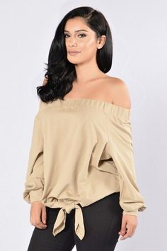 https://www.shopdailychic.com/collections/new-arrivals/products/bianca-off-the-shoulder-tie-accent-top-taupe