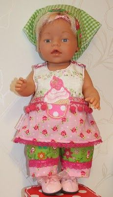 Linda would this not be a cute little outfit for your Grandbaby Baby Born Clothes, Bitty Baby, Happy Thoughts, Fun Ideas, Girl Dolls, American Girl, Doll Clothes, Cute, Gifts