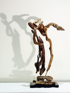 FLAMENCO, Driftwood art Sculpture, Abstract Decodative recycled art, Wood Dancers Figure . by driftwoodartwork on Etsy
