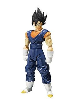 """Bandai Tamashii Nations Vegetto """"Dragon Ball Z"""" S. Figuarts Action Figure: From S.Figuarts comes one of the most formidable characters in the Dragon Ball saga! Announcing the Potara Fusion of Son Goku and Vegeta, S. Figurines D'action, Anime Figurines, Dbz, Goku And Vegeta, Son Goku, Dragon Ball Z, Super Saiyan Hair, Figuarts, Midtown Comics"""