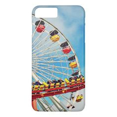 Fun carnival ferris wheel and roller coaster photo iPhone 8 plus/7 plus case - photography picture cyo special diy