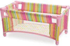 Baby Stella Take Along Travel Crib by Manhattan Toy Baby Doll Crib, Baby Toys, Kids Toys, Baby Stella Doll, Pack And Play, Portable Crib, Baby Doll Accessories, Baby Alive, Soft Dolls