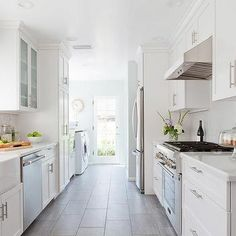 Long Kitchen with Laundry Room