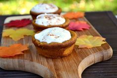 3 Non-pie Thanksgiving pumpkin desserts  ~  Each of these desserts has all of the traditional flavors of pumpkin pie (like cinnamon, pumpkin puree and cumin) with other delicious ingredients too, like Greek yogurt, cream cheese and chocolate chips!